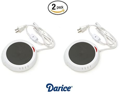Darice Large Jar Warmer Safely Releases Scents Without a Flame-Candle Plate Keeps Drinks and Soups Warm in Your Home, Office and More, White, 2 Count