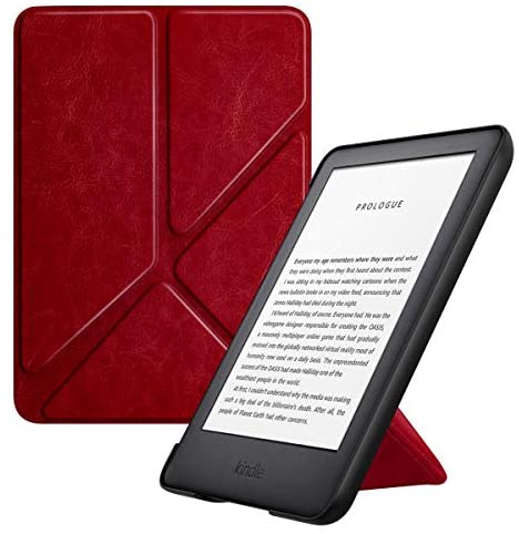 MoKo Case Fits All-New Kindle (10th Generation – 2019 Release Only), Standing Origami Shell Cover with Auto Wake/Sleep, Will Not Fit Kindle Paperwhite 10th Generation 2018 – Wine Red