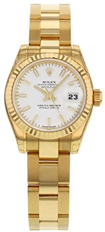 Rolex Datejust 179178 WSO 18K Yellow Gold Automatic Ladies Watch