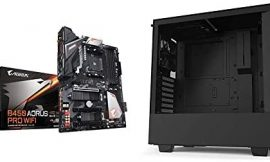 GIGABYTE B450 AORUS PRO Wi-Fi & NZXT H510 – Compact ATX Mid-Tower PC Gaming Case – Front I/O USB Type-C Port – Tempered Glass Side Panel – Cable Management System – Water-Cooling Ready – Black