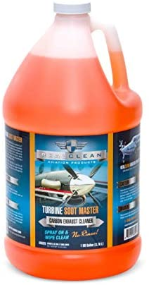 Turbine Soot Master- Aircraft Degreaser- Carbon and Exhaust Soot Remover for Aircraft- Desinged for Turboprop Aircraft- Aircraft Detailing- Created by Professional Aircraft Detailers-1 Gallon