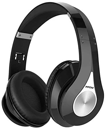Mpow 059 Bluetooth Headphones Over Ear, Hi-Fi Stereo Wireless Headset, Foldable, Soft Memory-Protein Earmuffs, w/Built-in Mic Wired Mode, for Online Class, Home Office, PC/Cell Phones/TV (Renewed)