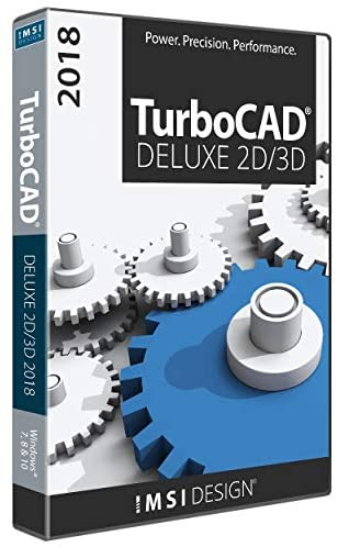 TurboCAD Deluxe 2018 DVD – Powerful 2D/3D CAD Software