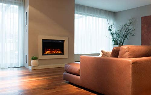 Modern Flames Pro Electric Fireplace | Customizable Multi-Colored LED Light Ambience | Remote/App Controlled | 36 Inch