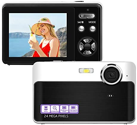 24 Mega Pixels 2.4″ LCD Rechargeable HD Digital Camera Compact Camera Pocket Digital Cameras with 3X Zoom for Students/Adults