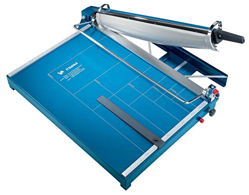 Dahle 567 Premium Guillotine Trimmer, 21-5/8″ Cut Length, 35 Sheet Capacity, Self-Sharpening Blade, Automatic Clamp, w/Safety Guard