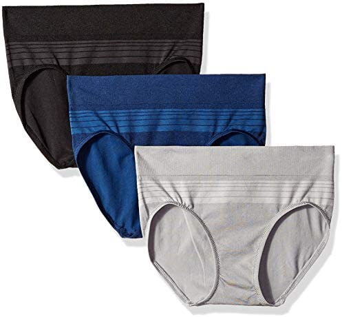 Warner's Women's Blissful Benefits Seamless Hipster Panty 3 Pack