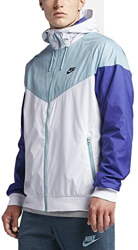 Nike M NSW WR JKT Mens Athletic-Warm-up-and-Track-Jackets 727324-102_3XL – White/MICA Blue/DEEP Night/Black