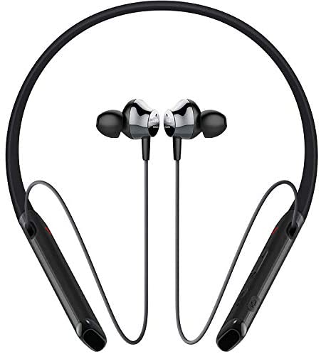 Philips Audio Performance PN402BK Wireless Bluetooth Earbuds with Vibration Call Alert Neckband, Black