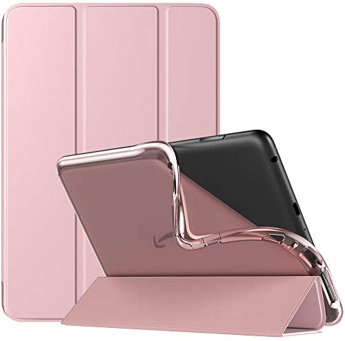 TiMOVO Case for All-New Kindle Fire HD 8 Tablet and Fire HD 8 Plus Tablet (10th Generation, 2020 Release), Soft TPU Translucent Frosted Back Slim Cover Shell with Auto Wake/Sleep – Rose Gold