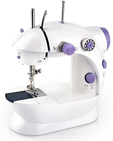 Mini Handheld Sewing Machine, Portable Electric Sewing Machine (2-Speed, 2-Thread, Cutter, Foot Pedal), Beginner Small Lightweight Repairing Tailor Machine for Home Crafting & DIY Project