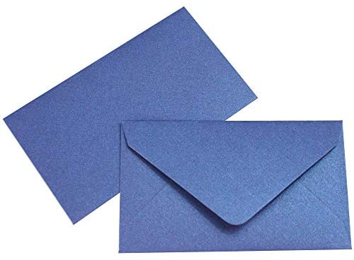 Mini Lotto Lottery Ticket Envelopes 2 1/2 x 4 1/4 Metallic Sapphire Blue 50 Pack My Scratch Offs