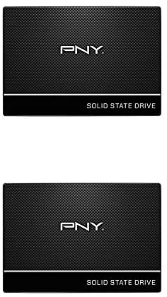 PNY CS900 250GB SATA III Internal Solid State Drive (SSD) – (SSD7CS900-250-Rb) with PNY CS900 120GB Internal Solid State Drive (SSD)