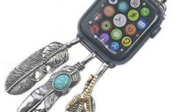 Lemonadeus Unique Apple SmartWatch Neck Chain of Series 4 3 2 1 Stainless Steel Chain Necklace Smartwatch Band Fit Apple SmartWatch All Models (38/40mm)