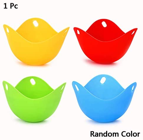 4pcs Silicone Egg Poacher Poaching Pods Egg Mold Bowl Rings Cooker Boiler Baking Cup Kitchen Cooking Cookware Tools (Mix)