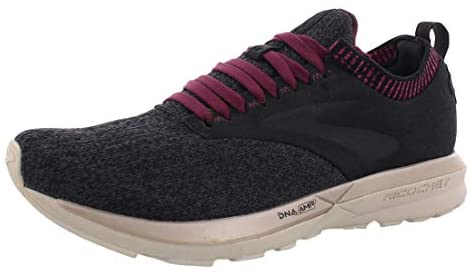 Brooks Ricochet Black/Grey/Pink 9 B (M)