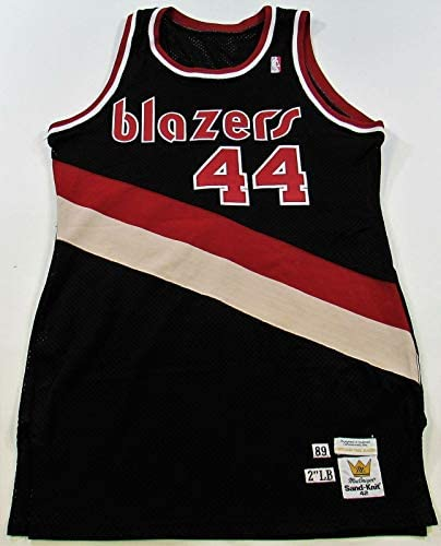 1989 Drazen Petrovic Rookie Portland Trail Blazers Game Used Jersey With COA – Other Game Used NBA Items