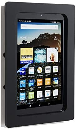TABcare Security Anti-Theft Acrylic VESA Enclosure for Amazon Fire 7″ with Wall Mount Kit (Black)