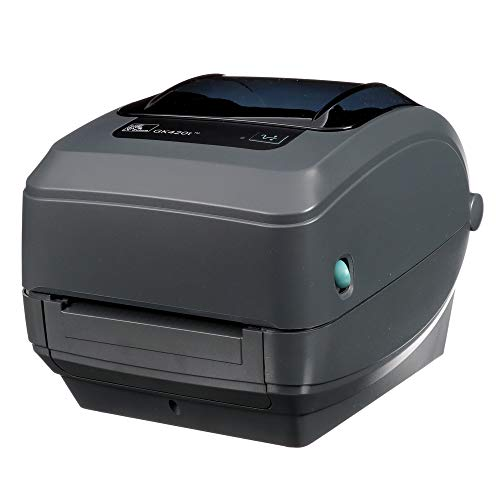 Zebra – GK420t Thermal Transfer Desktop Printer for labels, Receipts, Barcodes, Tags, and Wrist Bands – Print Width of 4 in – USB, Serial, and Parallel Connectivity – GK42-102510-000