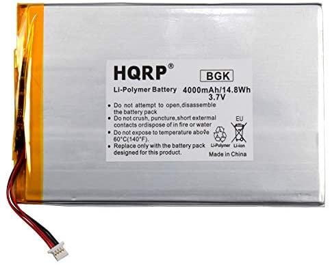 HQRP Battery Works with RCA 10-Inch Viking Pro RCT6303W87 RCT6303W87DK RCT6K03W13 Tablet PT3090135 3.7v 4Ah 4000mAh