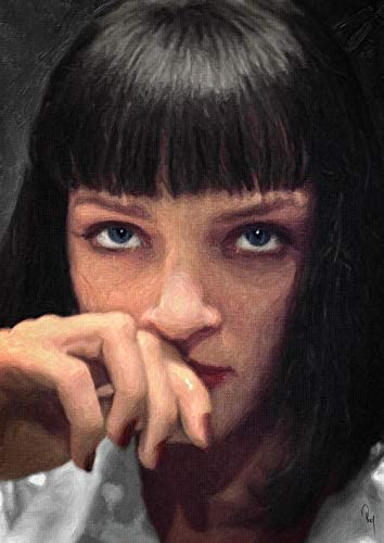 Zapista Mia Wallace Oil Painting Fine Art Print Pulp Fiction Movie Poster Home Wall Decor Unframed (21.25″ x 30″)