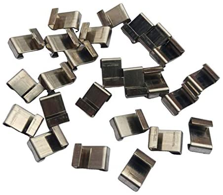 Baoblaze 25 Pack Greenhouse Glass Pane Fixing Clips, Greenhouse Glazing Z Overlap Clips Silver
