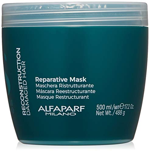 Alfaparf Milano Semi Di Lino Reconstruction Reparative Mask for Damaged Hair, Sulfate Free – Safe on Color Treated Hair – Paraben and Paraffin Free – Professional Salon Quality
