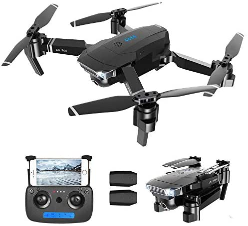 GoolRC SG901 RC Drone with Dual Cameras – 4K HD Front Camera and 720P Bottom Camera, Optical Flow Positioning Foldable Drone, Gesture Photos/Video, Follow Me RC Quadcopter with 2 Battery
