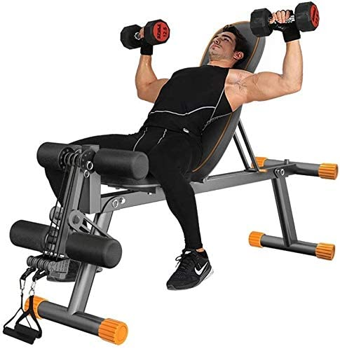 Lamyanran Adjustable Dumbbells Bench Multifunction Weight Bench Fitness Chair Dumbbell Stool for Home Crunches Fitness Equipment