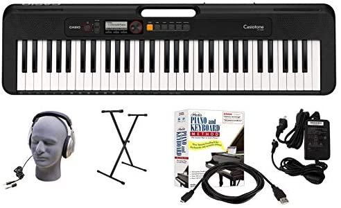 Casio CT-S200BK 61-Key Premium Keyboard Package with Headphones, Stand, Power Supply, 6-Foot USB Cable and eMedia Instructional Software, Black (CAS CTS200BK EPA)
