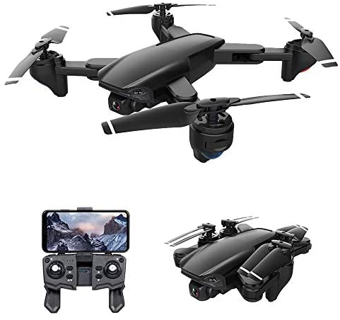 GoolRC SG701 RC Drone with 4K HD Camera, 2.4G WiFi FPV Live Video Foldable Drone, Foldable RC Quadcopter with Headless Mode, Trajectory Flight