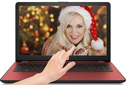HP 15.6in Touchscreen Laptop Intel Pentium N5000 with UHD Graphics 605 4GB RAM 500GB HDD DVD-Writer Bluetooth Windows 10 Red Color (Renewed)