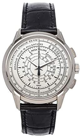 Patek Philippe Chronograph Mechanical(Automatic) Silver Dial Watch 5975G-001 (Pre-Owned)