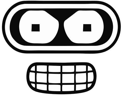 Futurama Benders Face Sticker – Vinyl Decal Window Laptop.jpg