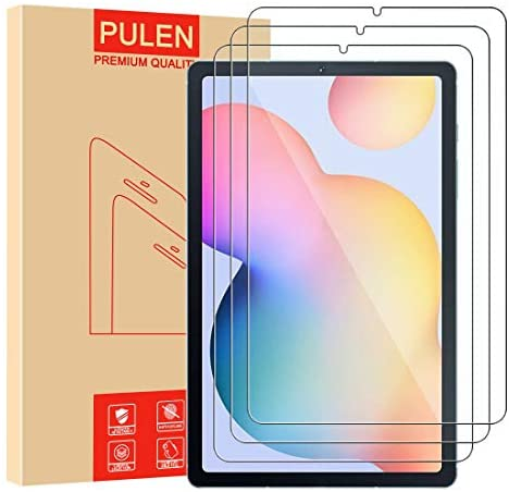 [3-Pack] PULEN for Samsung Galaxy Tab S6 Lite Screen Protector SM-P610/P615,HD No Bubble 9H Hardness Anti-Scratch Tempered Glass (10.4 Inch)