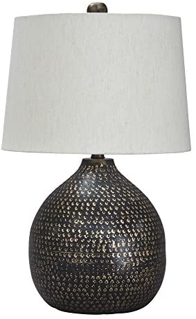 Signature Design by Ashley – Maire Metal Table Lamp – Contemporary – Black/Gold Finish