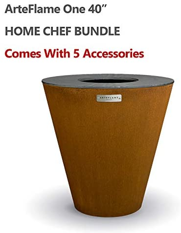 ARTEFLAME One 40″ Grill and Home Chef Bundle with 5 Grilling Accessories.