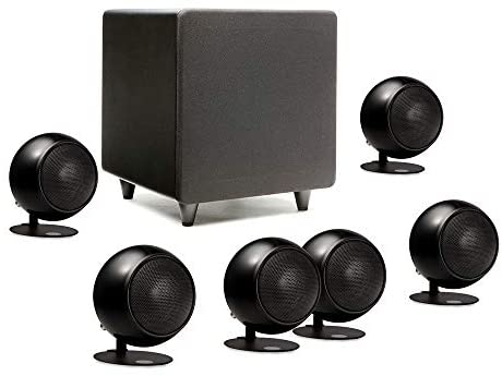 Orb Audio: Mod1 Mini 5.1 Plus Home Theater Speaker System – Surround Sound System – Includes 6 Orbs and 9'' Subwoofer – Dialogue Enhancing Center Channel – Handmade in the US