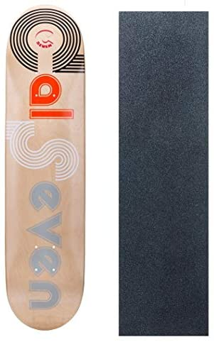 Cal 7 Graphic Skateboard Deck with Mob Green Glitter Grip Tape | Canadian Maple | 8.5 Inch