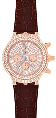 Aire Parlay Swiss Made High Jewelry Automatic Chronograph 18 Karat Gold Full Diamond Watch – Red Gold