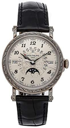Patek Philippe Grand Complications Mechanical(Automatic) Silver Dial Watch 5160/500G-001 (Pre-Owned)