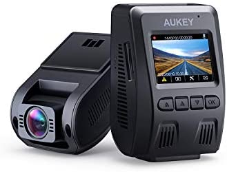 AUKEY Dash Cam FHD 1080p Car Camera Supercapacitor 170 Degree 6-Lane Wide Angle Lens Dashboard Camera Recorder with G-Sensor, WDR and Motion Dection