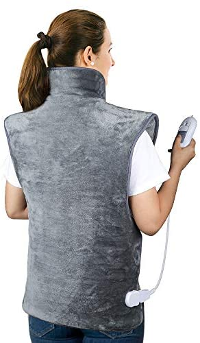 Heating Pad for Neck, Back and Shoulder Pain Relief, Electric Heating Pad Heat Therapy for Neck, Back, Shoulder Muscle Pain, Fast Heating, 3 Heat Levels with Auto Shut Off – Gray