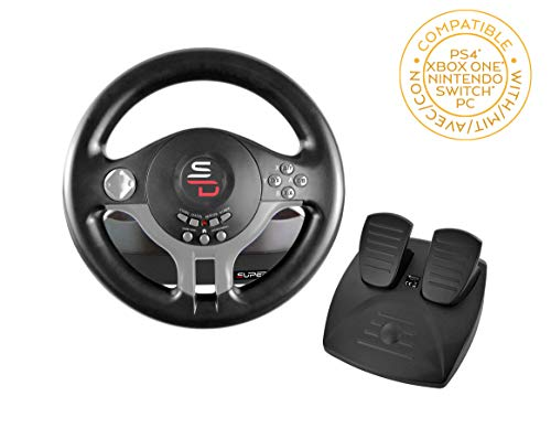 Subsonic Superdrive – Driving Wheel with pedals and gearshift paddles for nintendo Switch – PS4 – Xbox One – PC