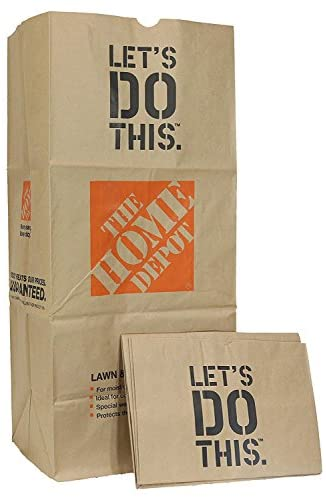 The Home Depot 49022-10PK Heavy Duty Brown Paper Lawn and Refuse Bags for Home and Garden, 30 gal (10 Lawn Bags)