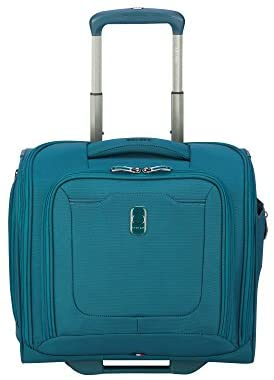DELSEY Paris Hyperglide Softside Luggage Under-Seater with 2 Wheels, Teal Blue, Carry-on 15 Inch
