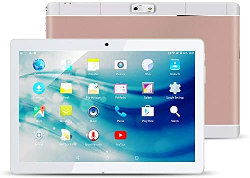 Kivors 10.1″ Inch 3G Touch Tablet PC – Android 7.0-2GB RAM + 32GB ROM – Quad Core Unlocked 3G Cell Phone Tablets – 1280×800 HD – Dual Camera – Dual Sim Card Slots, WiFi, GPS (k-Rosegold)