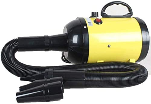 Dog Hair Dryer Dog Grooming Blaster 2600w Dogs Hairdryer, Low Noise 50DB Professional Blower with Gear Temperature and Flexible Hose for Cats and Pets Large and Small (Color : Yellow)