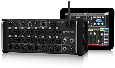 Midas 18-Input Digital Mixer for iPad/Android Tablets with 16 MIDAS PRO Preamps, Integrated WiFi Module and Multi-Channel USB Audio Interface (MR18)