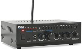 """Pyle WiFi Stereo Amplifier Receiver Professional Home Theater Audio System Wireless Bluetooth Connectivity AUX MP3 Music Streaming 1/4"""" Input & Microphone Paging/Mixing Control 240 Watt (PTAUWIFI46)"""
